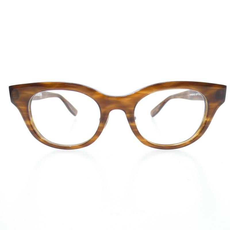 【中古】nonnative×KANEKO OPTICAL /ノンネイティブ×金子眼鏡 STUDENT GLASSES 伊達メガネ サイズ:- カラー:ブラウン系【f116】