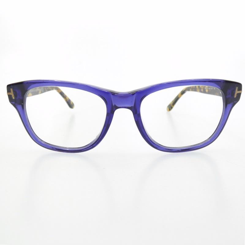 【中古】TOM FORD/トムフォード TF5147 090 伊達メガネ サイズ:52□17 145 カラー:ブルー【f116】