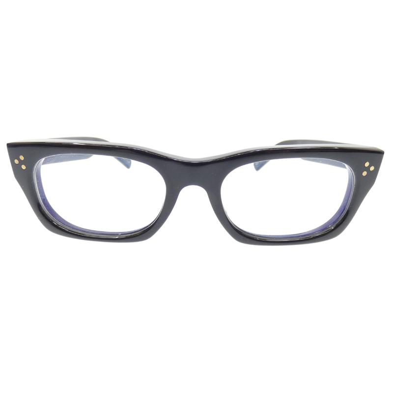 【中古】Oliver Goldsmith/オリバーゴールドスミス VICE-CONSUL 度入り眼鏡 メガネ サイズ:53□20 145 カラー:ブラック【f116】