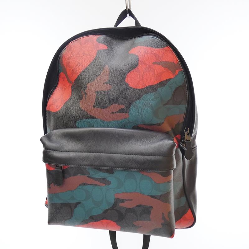 【中古】COACH/コーチ バックパック リュック バッグ サイズ:- カラー:ブラック【f122】