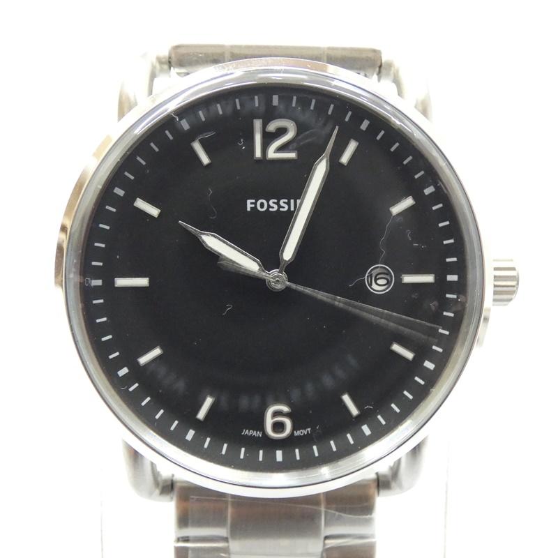 【中古】FOSSIL/フォッシル 腕時計 FS5391 クォーツ ステンレススティールベルト サイズ:- カラー:ブラック(文字盤)×シルバー(ベルト)【f131】