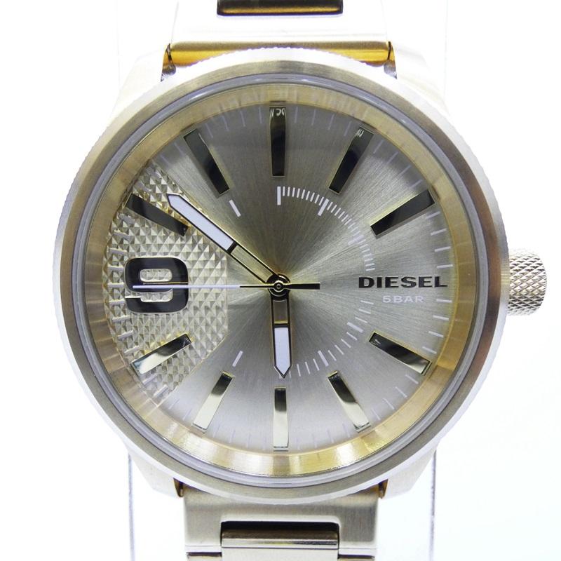 【中古】DIESEL/ディーゼル 腕時計 DZ1761 クォーツ サイズ:- カラー:ゴールド(文字盤)×ゴールド(ベルト)【f131】