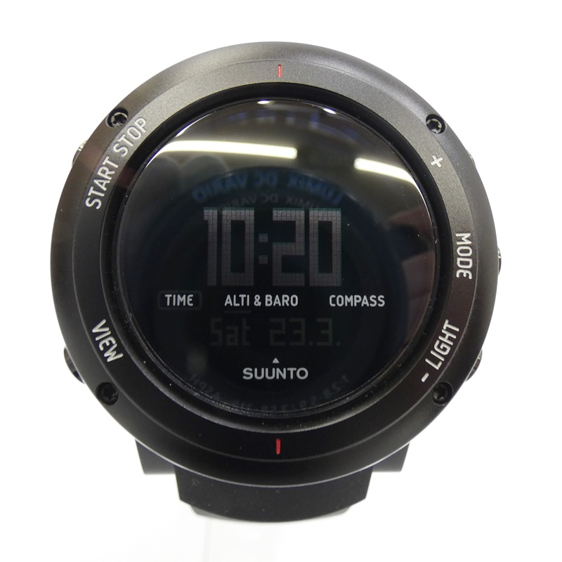 【中古】SUUNTO/スント 腕時計 CORE ALU DEEP BLACK クォーツ ラバーバンド サイズ:- カラー:ブラック(文字盤)×ブラック(ベルト)【f131】
