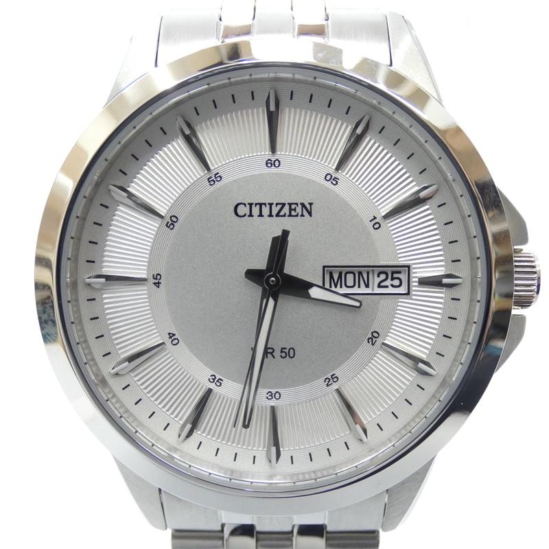 【中古】CITIZEN/シチズン 腕時計 クォーツ ステンレススティールベルト サイズ:- カラー:シルバー(文字盤)×シルバー(ベルト)【f131】