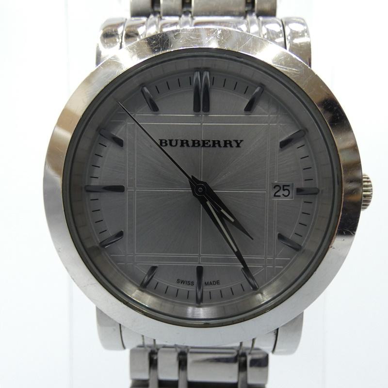 【中古】BURBERRY/バーバリー 腕時計 BU1350 クォーツ ステンレススティールベルト サイズ:- カラー:シルバー(文字盤)×シルバー(ベルト)【f131】