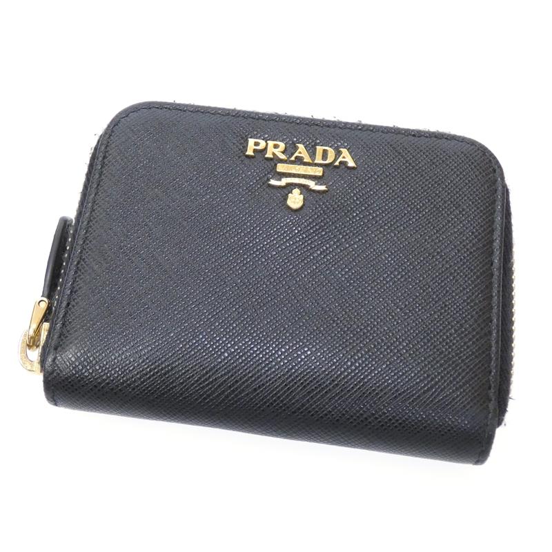 【中古】PRADA/プラダ コインケース 財布 サイズ:- カラー:ブラック【f125】