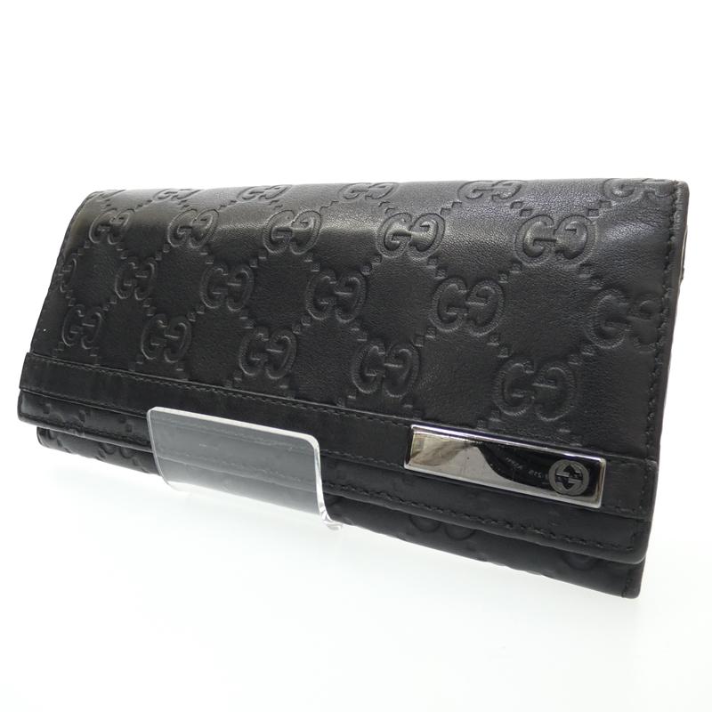 【中古】GUCCI/グッチ 二つ折り長財布 サイズ:- カラー:ブラック【f125】