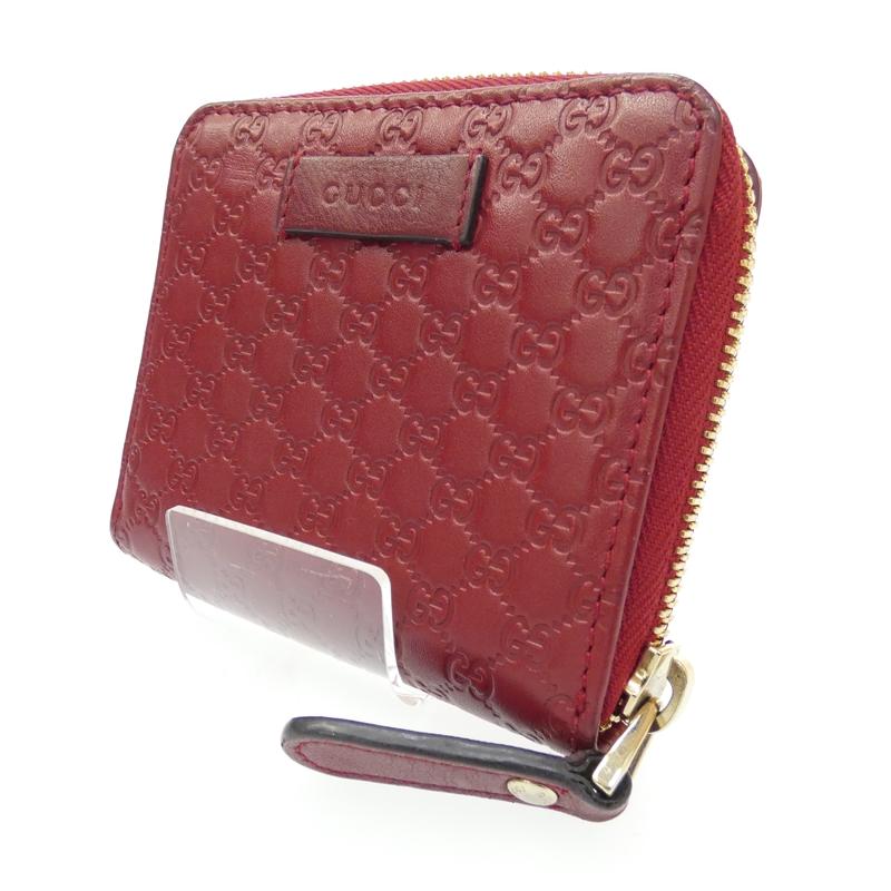 【中古】GUCCI/グッチ アウトレット品 コンパクト財布 サイズ:- カラー:レッド【f125】