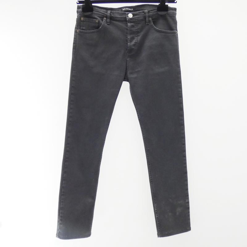 【中古】BALENCIAGA/バレンシアガ デニムパンツ サイズ:40 カラー:ブラック【f135】