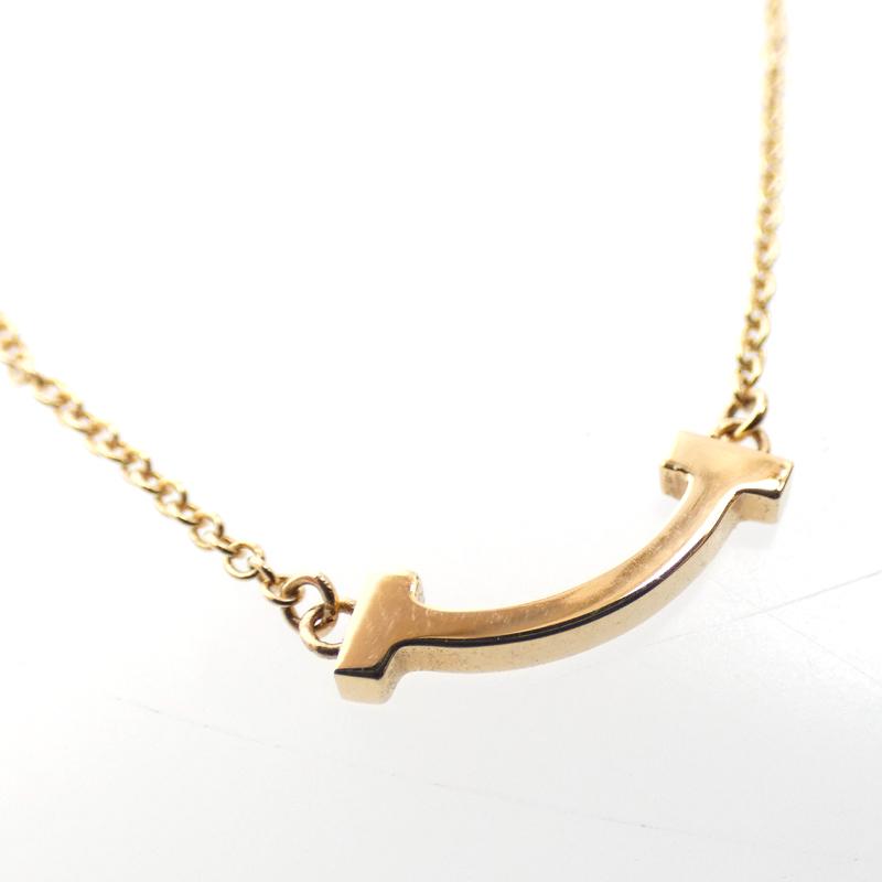 【中古】TIFFANY&Co./ティファニー Tスマイル K18ネックレス サイズ:- カラー:ゴールド【f135】