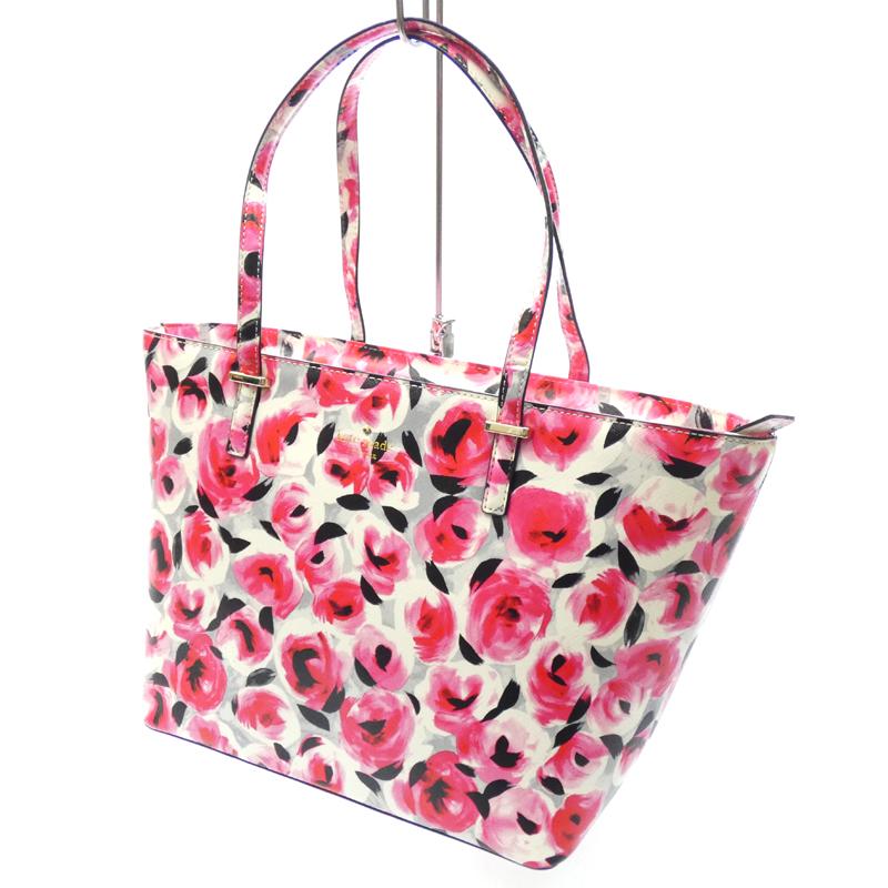 【中古】kate spade/ケイトスペード トートバッグ サイズ:- カラー:ピンク系【f122】