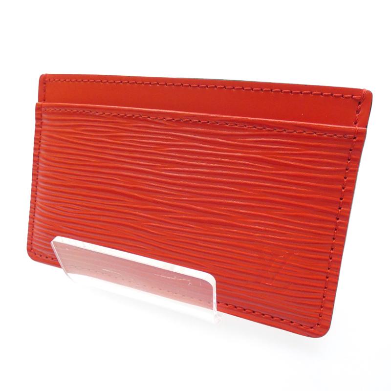 【中古】LOUIS VUITTON/ルイ・ヴィトン ポルトカルトサーンプル カードケース サイズ:- カラー:レッド【f125】