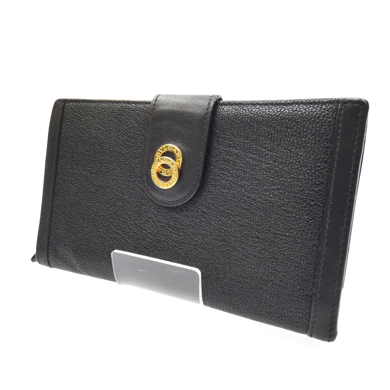 【中古】BVLGARI/ブルガリ 二つ折り長財布 サイズ:- カラー:ブラック【f125】