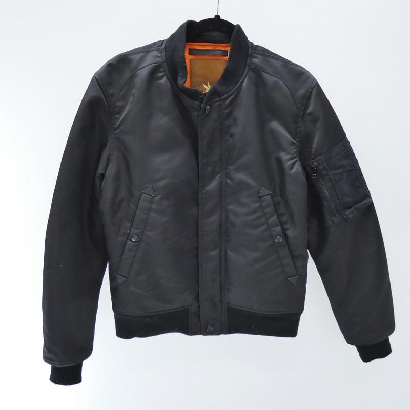 【中古】Ron Herman/ロンハーマン MA-1/×GOLDEN FLEECE サイズ:S カラー:ブラック / インポート【f094】