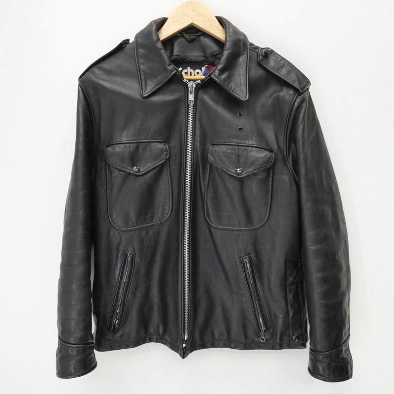 【期間限定】ポイント20倍【中古】Schott/ショット シングルライダースジャケット サイズ:40 カラー:ブラック / アメカジ【f093】