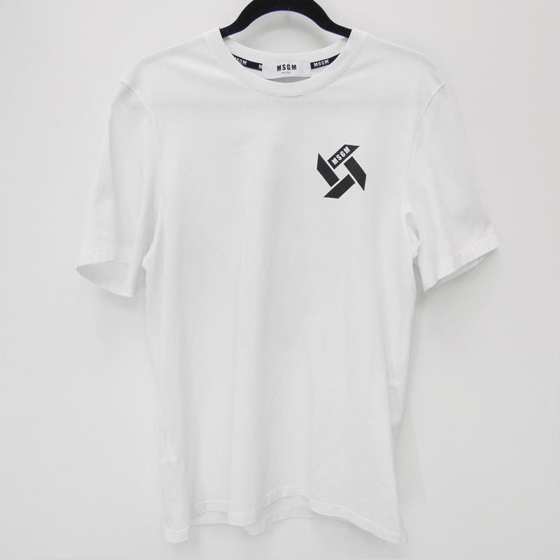 【中古】MSGM/エムエスジーエム 2018S/S 半袖Tシャツ サイズ:XS カラー:ホワイト【f108】