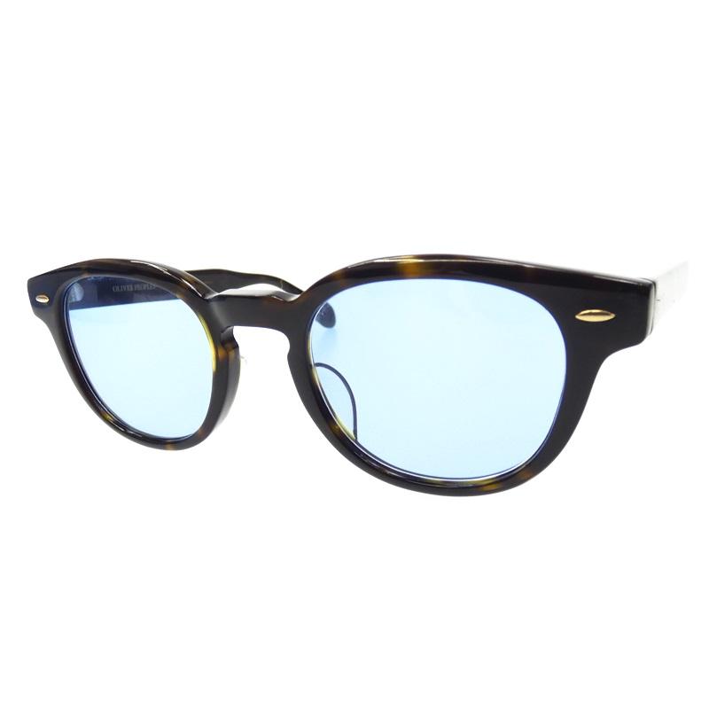 【中古】OLIVER PEOPLES/オリバーピープルズ サングラス/SHELDRAKE-J/4722/140 サイズ:4722/140 カラー:ブラック+ブラウン(フレーム)×ブルー(レンズ)【f116】