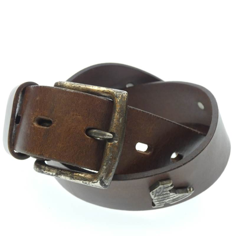 Leather Belt with Colorful Studs