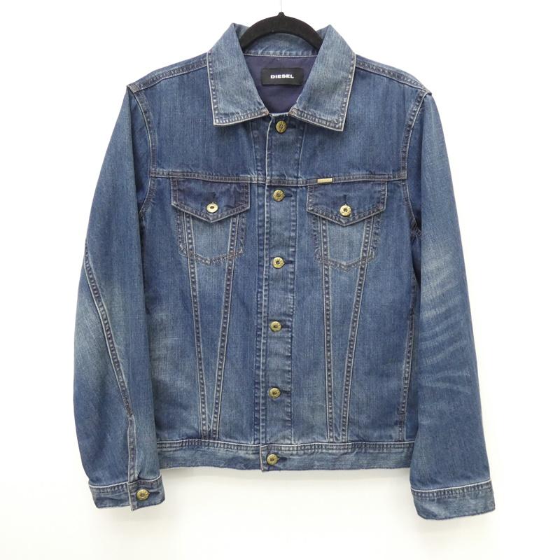 【中古】DIESEL/ディーゼル デニムジャケット サイズ:S カラー:ブルー / インポート【f094】