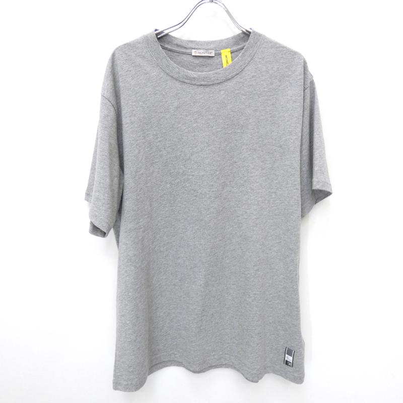 【中古】MONCLER/モンクレール 7MONCLER FRAGMENT GENIUS HIROSHI FUJIWARA半袖Tシャツ サイズ:M カラー:グレー【f108】