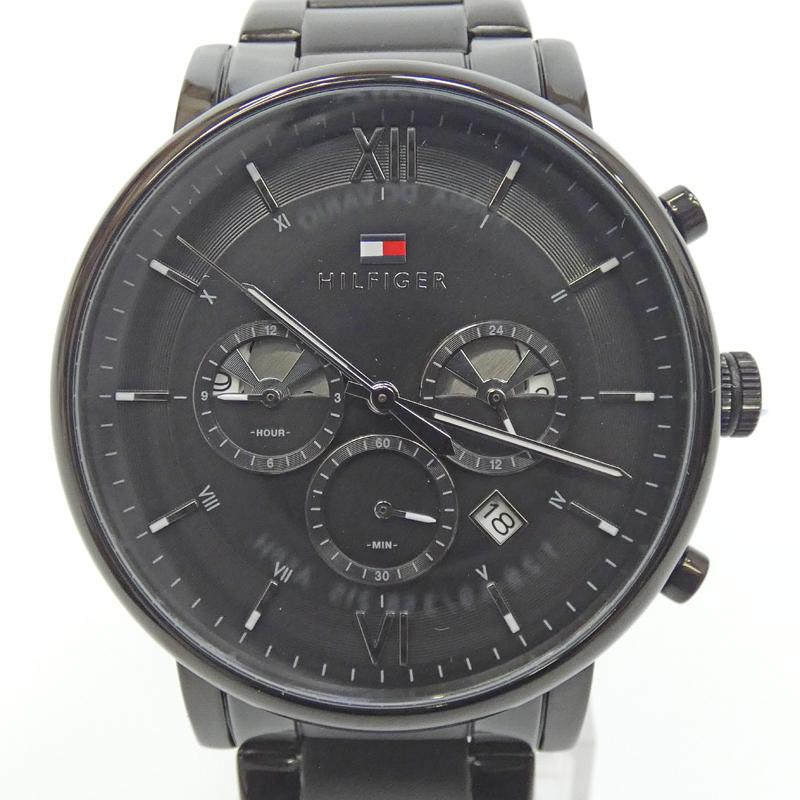 予約販売品 202103pd 中古 TOMMY HILFIGER トミーヒルフィガー 1710410 時計 アナログ 初回限定 ブラック サイズ:- ベルト f130 文字盤 カラー:ブラック