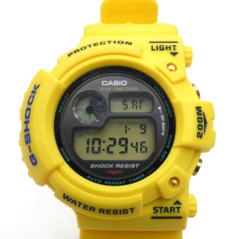 最新作の 【返品・交換】G-SHOCK ジーショック DW-6300/初代FROGMAN 時計 デジタル クォーツ 樹脂バンド カラー:イエロー【f131】, 三条工業 ec101f86