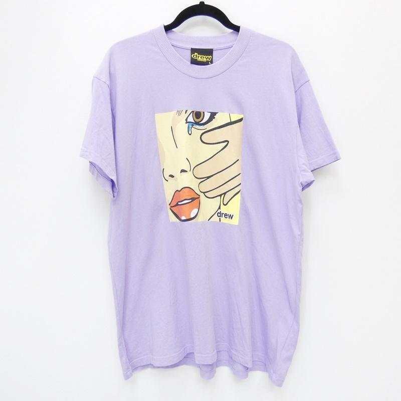 【期間限定】ポイント20倍【中古】Drew House/ドリューハウス No Tears SS Tee 半袖Tシャツ サイズ:L カラー:パープル【f108】