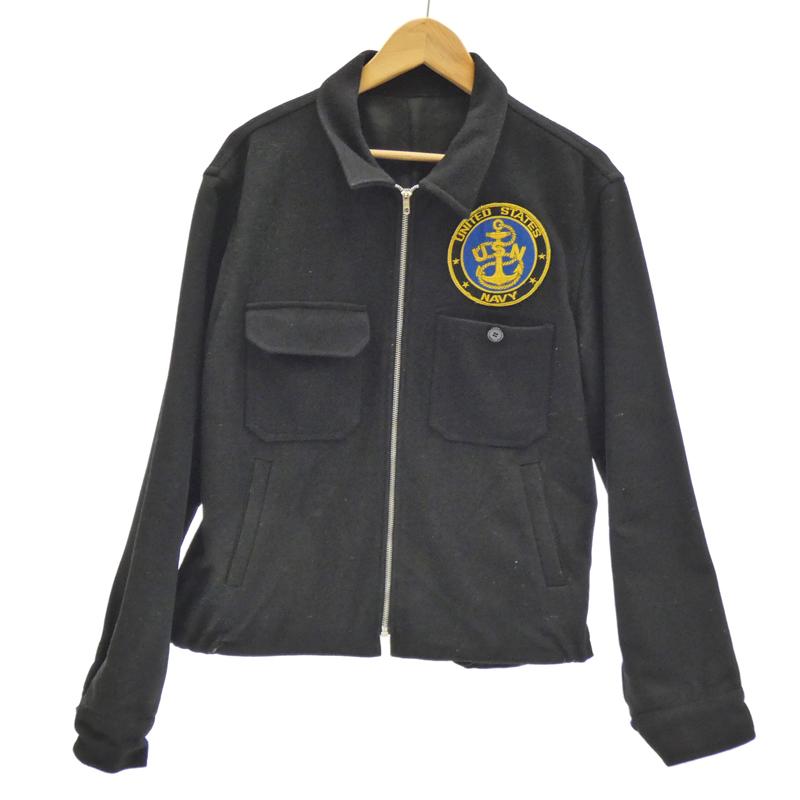 【期間限定】ポイント20倍【中古】MILITARY衣料 80's USN ツアージャケット ウールジャケット サイズ:- カラー:ブラック / アメカジ【f093】