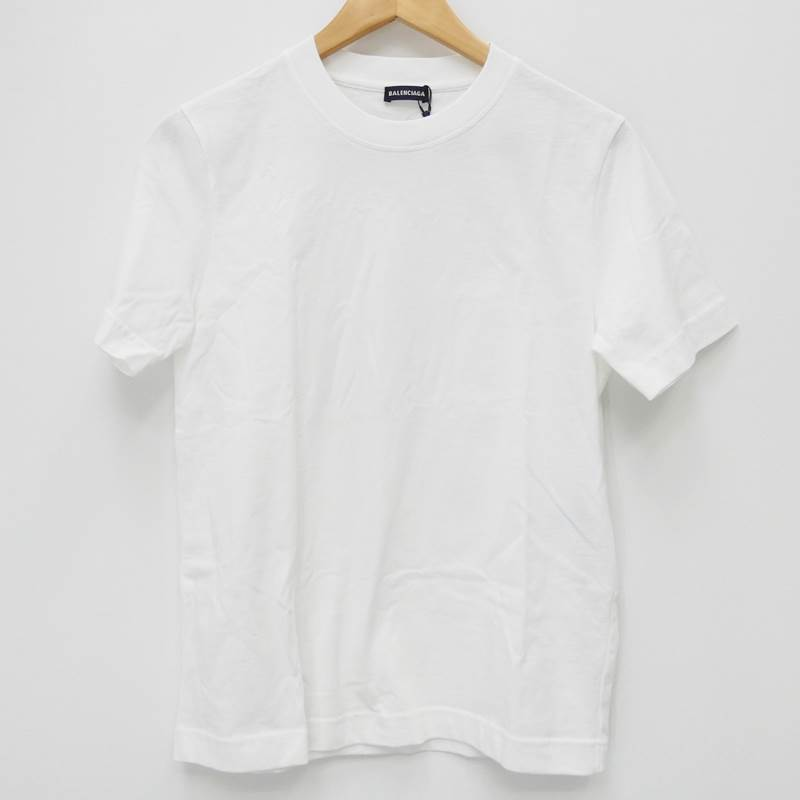 【期間限定】ポイント10倍【中古】BALENCIAGA/バレンシアガ バックロゴ/Tシャツ/496053 サイズ:XS カラー:ホワイト【f135】