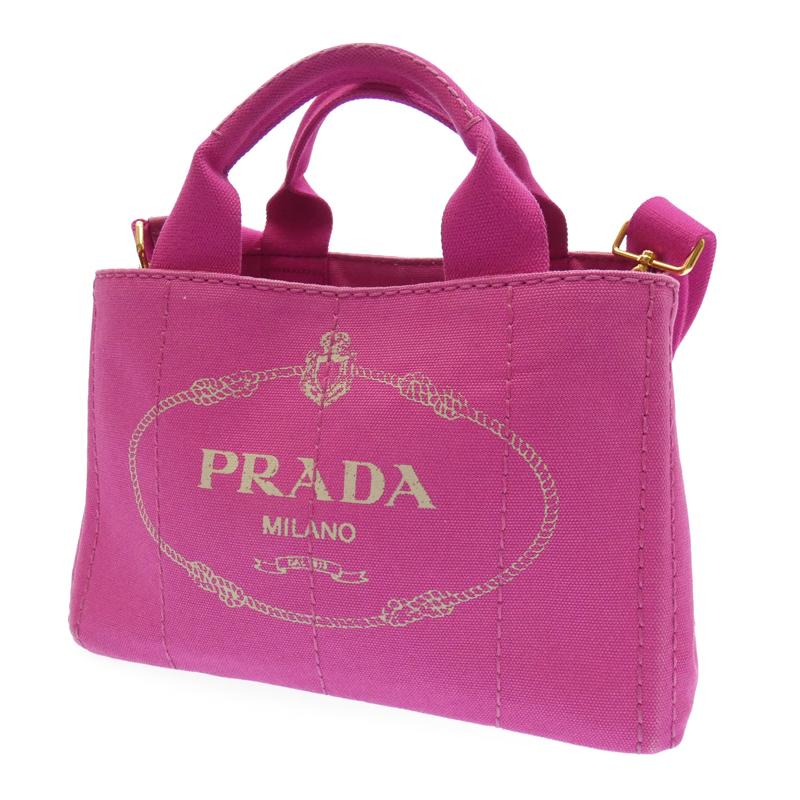 【中古】PRADA/プラダ B2439G カナパ 2wayバッグ サイズ:- カラー:ピンク【f122】