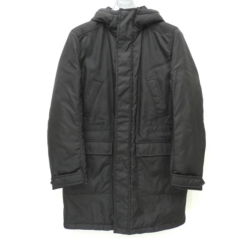 【中古】PRADA /プラダ SGN455 コート サイズ:46 カラー:ブラック【f135】