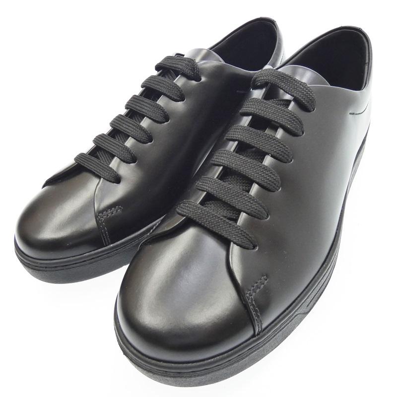 【中古】PRADA プラダ スニーカー サイズ:7(約27cm) カラー:ブラック【f135】