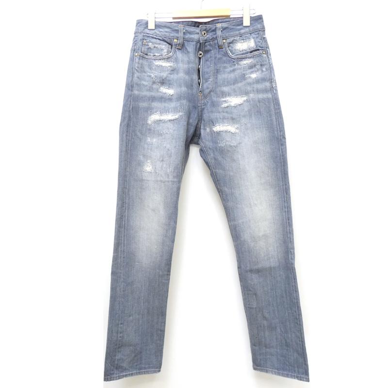 【期間限定】ポイント20倍【中古】G-STAR RAW/ジースターロウ RE US First Classic Tapered Jeans デニムパンツ サイズ:28 カラー:ブルー系 / インポート【f107】