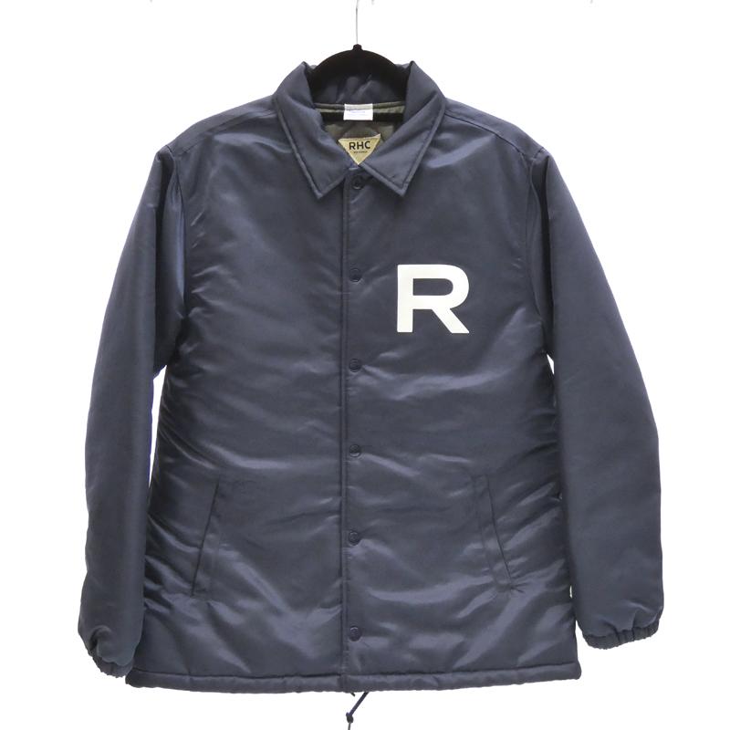 【中古】RHC Ron Herman×Champion/ロンハーマン×チャンピオン C8-J635 中綿コーチジャケット サイズ:M カラー:ネイビー / インポート【f094】