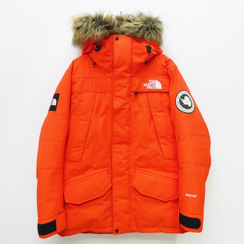 【期間限定】ポイント20倍【中古】THE NORTH FACE/ザノースフェイス ダウンジャケット/Antarctica Parka/ND91807/ファー取り外し可 サイズ:L カラー:オレンジ / アウトドア【f092】