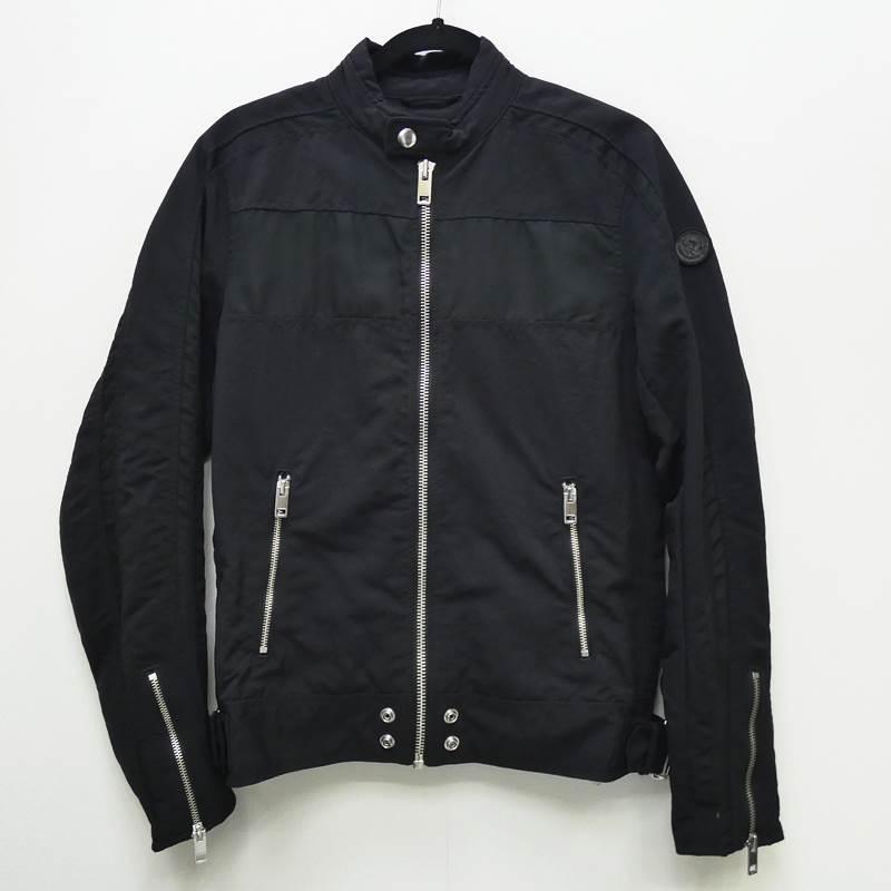 ●【中古】DIESEL/ディーゼル ライダースジャケット サイズ:M カラー:ブラック / インポート【f094】