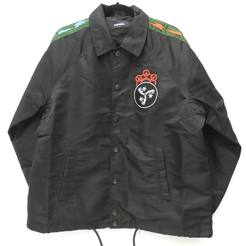 【中古】DIESEL/ディーゼル 19AW J-AKITO-EMB コーチジャケット サイズ:S カラー:ブラック / インポート【f094】