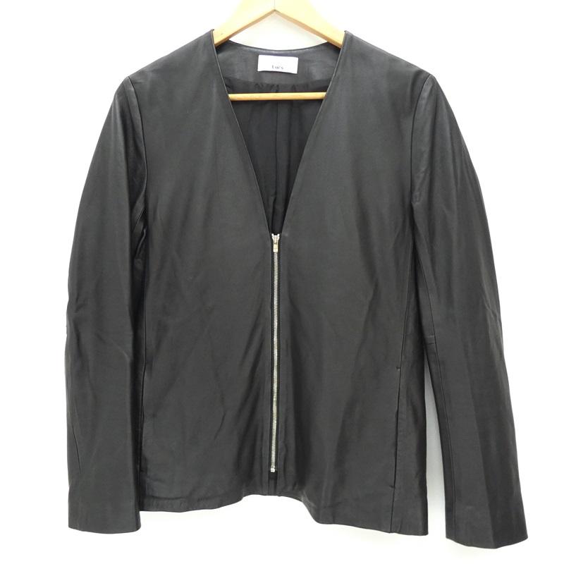 【中古】LUI'S ルイス LU17A0070190100 ノーカラーレザージャケット サイズ:S カラー:ブラック / セレクト【f091】