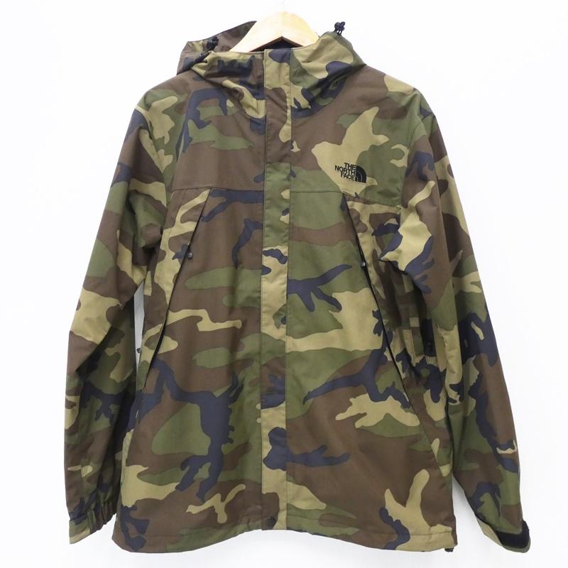 【中古】THE NORTH FACE ザノースフェイス マウンテンパーカー NP61845 Novelty Scoop Jacket サイズ:L カラー:カモ / アウトドア【f092】