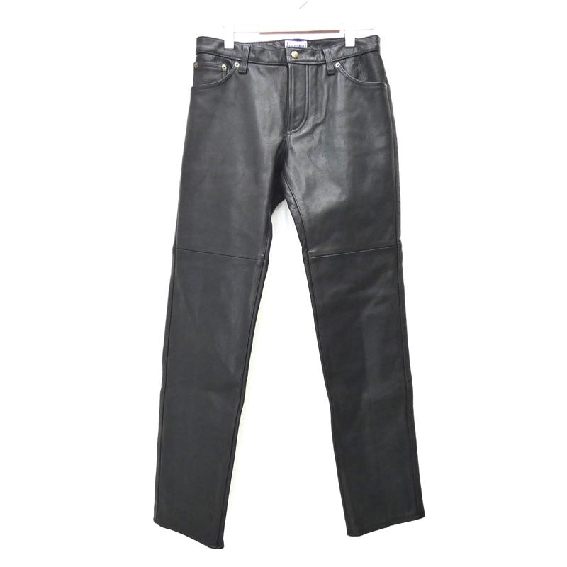 【期間限定】ポイント20倍【中古】ROTAR/ローター leather pants レザーパンツ サイズ:M カラー:ブラック【f107】