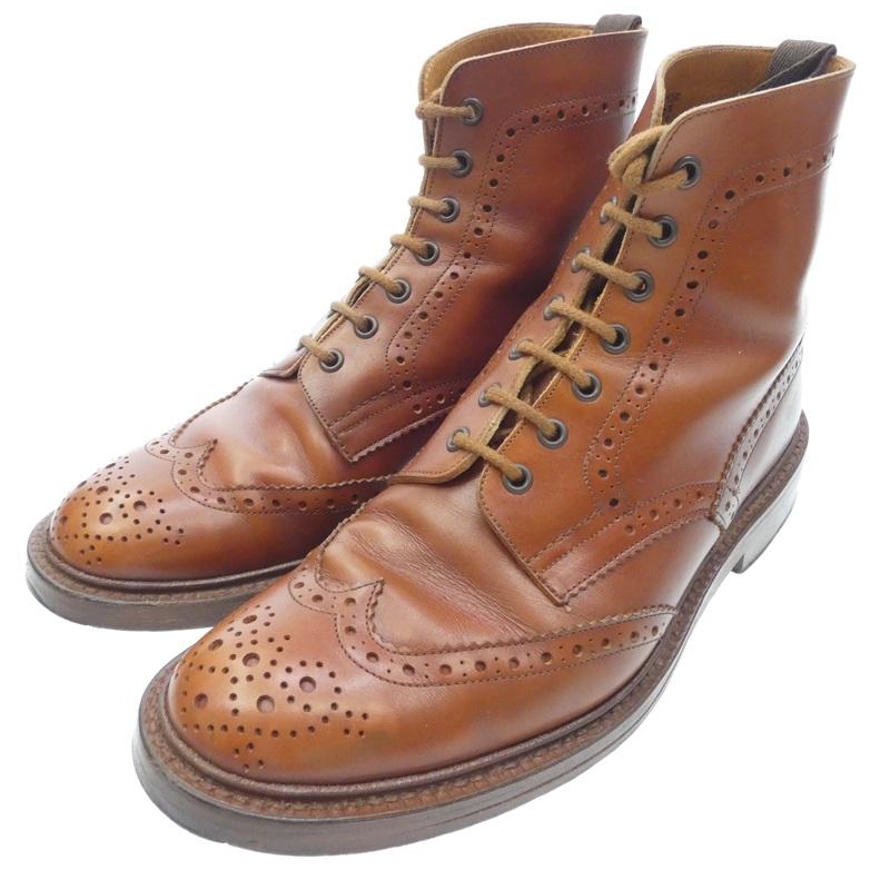 【中古】Tricker's トリッカーズ カントリーブーツ メンテ済み ブーツ サイズ:UK9.5 約28cm カラー:ブラウン【f127】