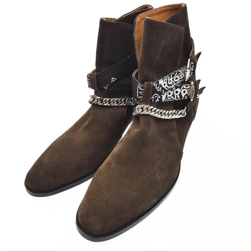 【中古】AMIRI アミリ その他靴 BANDANA BUCKEL BOOT サイズ:25.5 カラー:ブラウン【f127】
