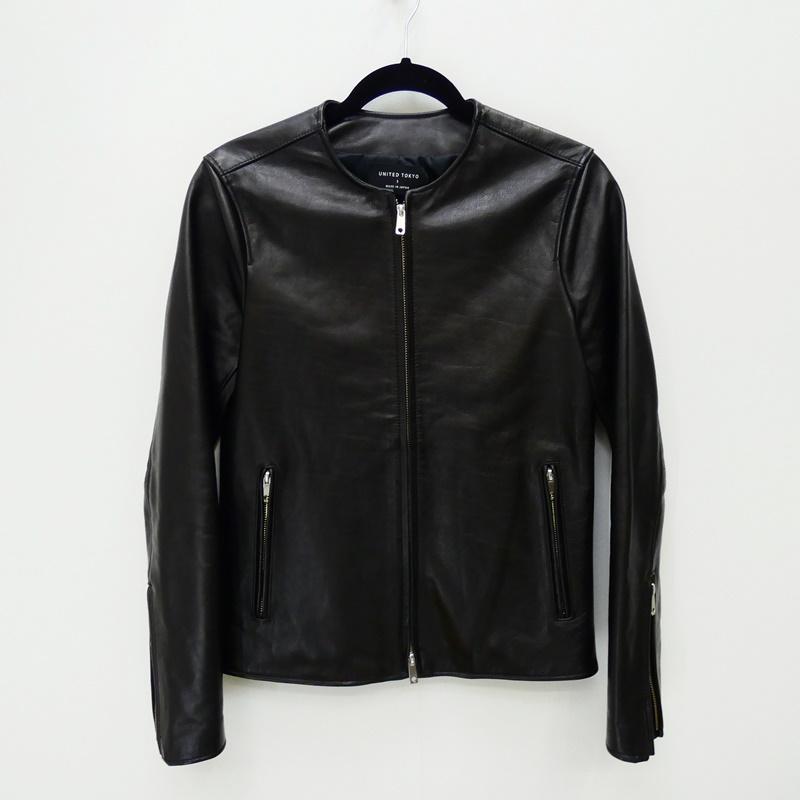 【中古】UNITED TOKYO ユナイテッドトーキョー 405352003 レザージャケット サイズ:1 カラー:ブラック / ドメス【f096】
