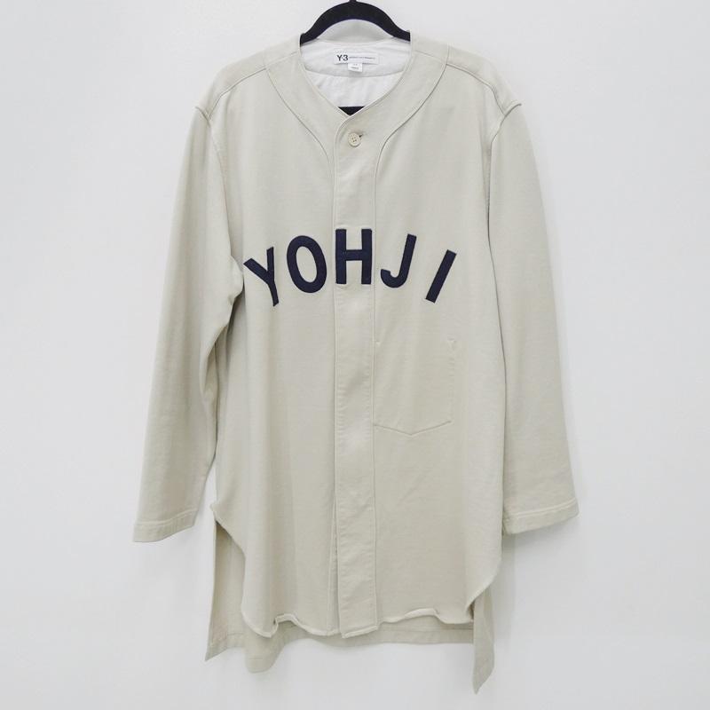 【中古】Y-3 ワイスリー FJ0435 M FT YOHJI LETTERS BASEBALL SHIRT ベースボールシャツ サイズ:M カラー:アイボリー【f108】