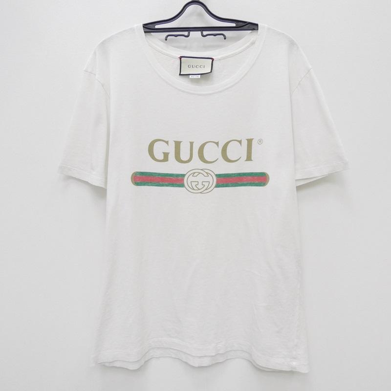 【中古】GUCCI グッチ 440103Tシャツ サイズ:S カラー:ホワイト【f135】