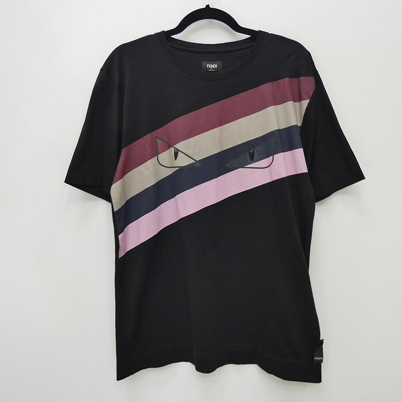 【中古】FENDI フェンディ FY0936S/S Tシャツ Tシャツ半袖 サイズ:- カラー:ブラック【f135】