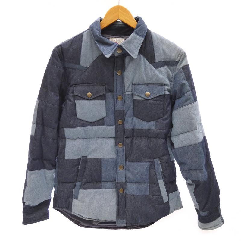 【新品】 GAIJIN MADE ガイジンメイド ダウンジャケット サイズ:M カラー:インディゴ / アメカジ【f093】, 日本製 2b2f7bff