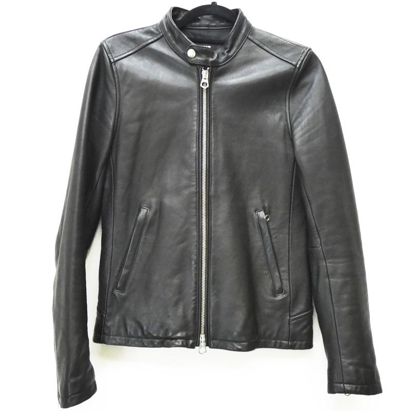 【中古】HARE ハレ ライダースジャケット シープレザー サイズ:S カラー:ブラック / セレクト【f091】