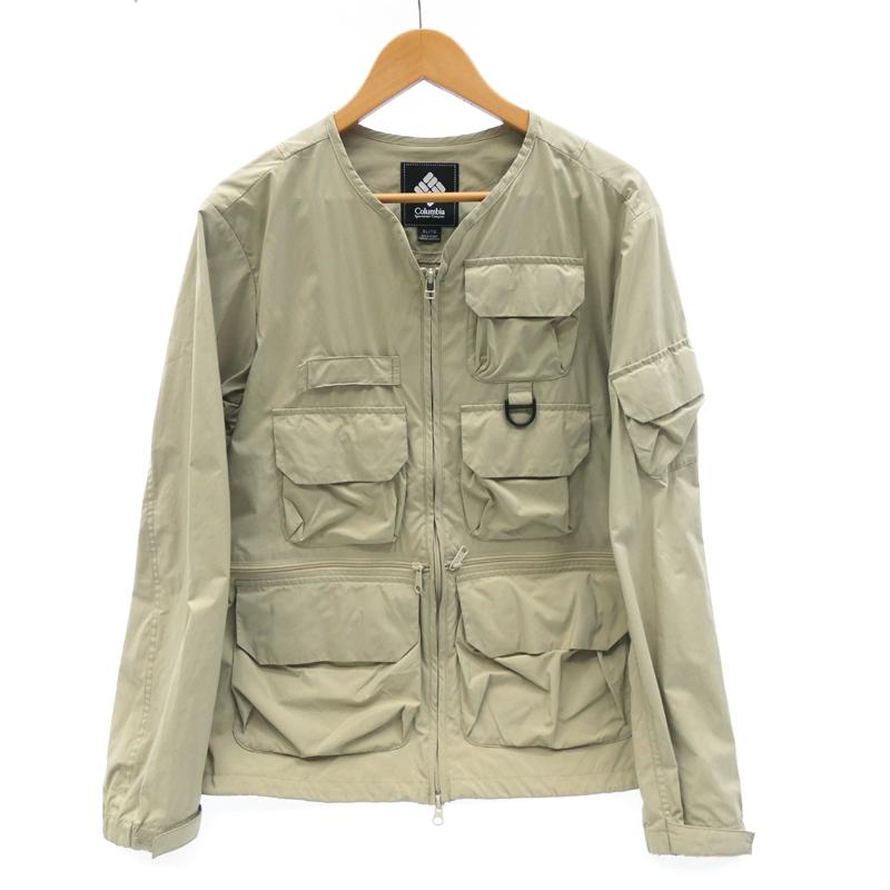 ●【中古】COLUMBIA BLACK LABEL コロンビアブラックレーベル PM5506 'Gibbs Trail Jacket' ナイロンジャケット サイズ:XL カラー:ベージュ系 / アウトドア【f092】