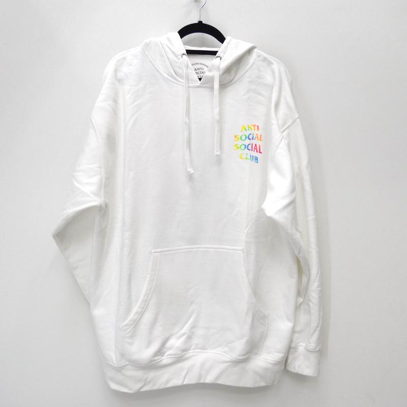 【中古】ANTI SOCIAL SOCIAL CLUB アンチソーシャルソーシャルクラブ THAI DYE WHITE HOODIE プルオーバーパーカー サイズ:XL カラー:ホワイト / ストリート【f103】